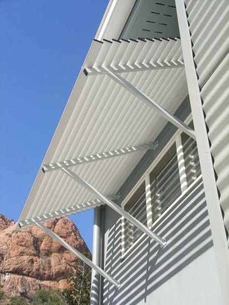 white Colorbond® awning