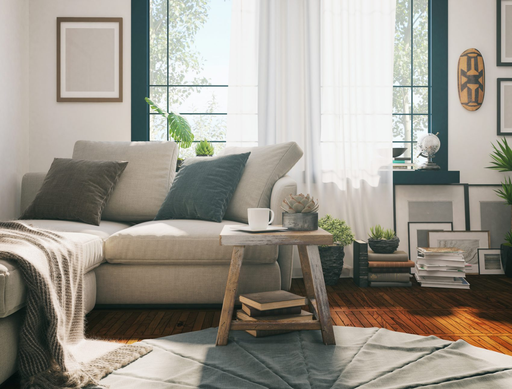 S fold Curtains Living room